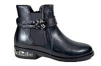 Кожаные ботинки женские на низком ходу Brocoly