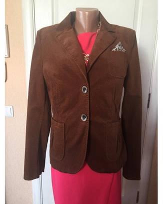 Женский пиджак жакет коричневый клубный деловой замшевый S.Oliver, фото 2