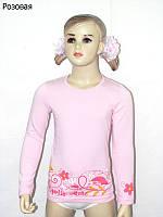 Детская футболка (фуфайка) с длинным рукавом для девочки *Цвет*