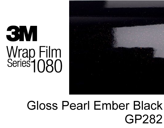 3M 1080 Gloss Pearl Ember Black GP282