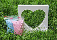 """Рамка """"Сердце"""" + песок, фото 1"""