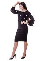 Стильный комплект: юбка+джемпер чёрного цвета