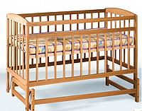 Кроватка детская на шарнирах с подшипником (1200*600) (бук)