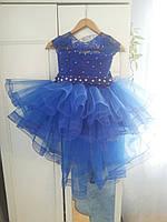 Нарядное пышное платье со шлейфом 3-7 лет, фото 1
