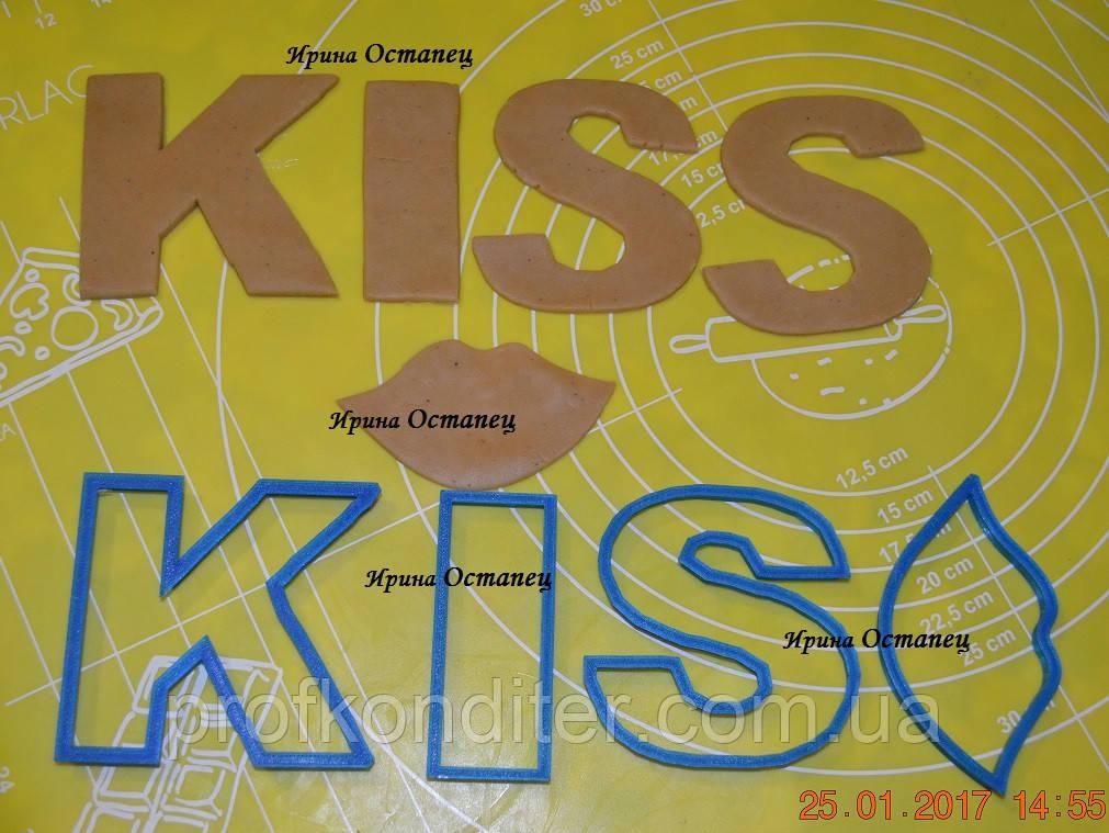 Вырубка Kiss высота 8см с губками ширина 9,5см