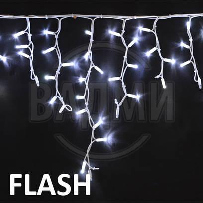 Мерцающая led гирлянда Бахрома Айсикл Флеш, 300 св, 5х0.5 м, с коннектором для удлинения цепи