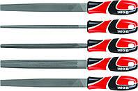 Напильники по металлу в наборе 5шт., YATO YT-6239