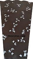 "Пакеты для цветов ""Бабочки"" метал+рис (уп.100шт) 6x15x50"