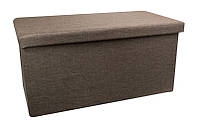 Мягкий пуфик для дома, МДФ обитый тканью, коричневый
