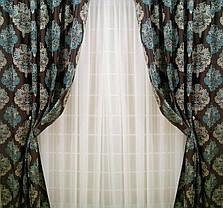 """Комплект штор """"Лорд"""" (вышивка)-2 шторы по 2м шириной, фото 2"""