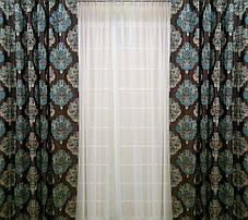 """Комплект штор """"Лорд"""" (вышивка)-2 шторы по 2м шириной, фото 3"""