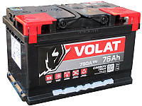 Аккумулятор автомобильный VOLAT - 75A +прав (L3) (780 пуск)