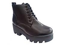 Женские демисезонные комфортные ботинки на тракторной подошве, эко-кожа 41 In-Trend