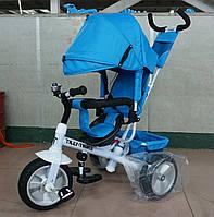 Велосипед трехколесный TILLY Trike T-371 LIGHT BLUE на бескамерном колесе***
