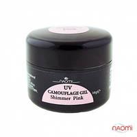Гель Naomi камуфляжный UV Camouflage Gel Shimmer Pink розовый с шиммерами, 14 г