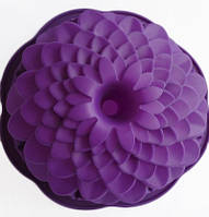 """Силиконовая форма для пирога """"Хризантема с втулкой"""" 22 см 8,5 см"""