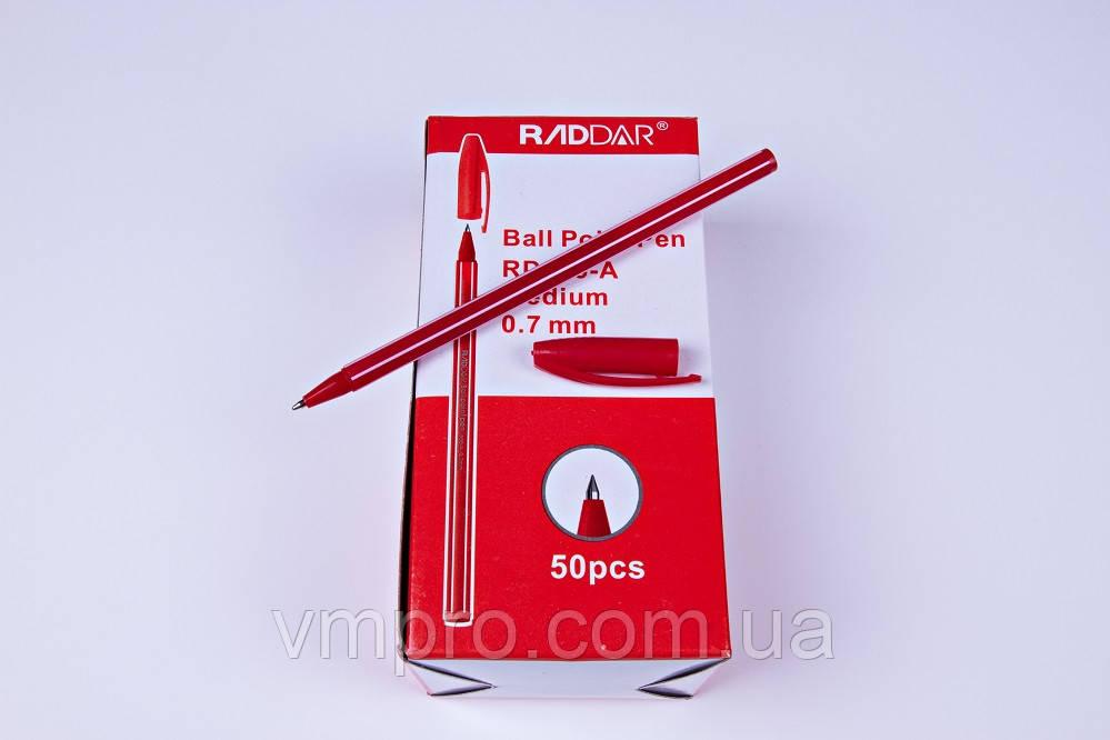 Шариковые ручки RADDAR AH-555-A,красные,0.7 mm,50 ШТУК