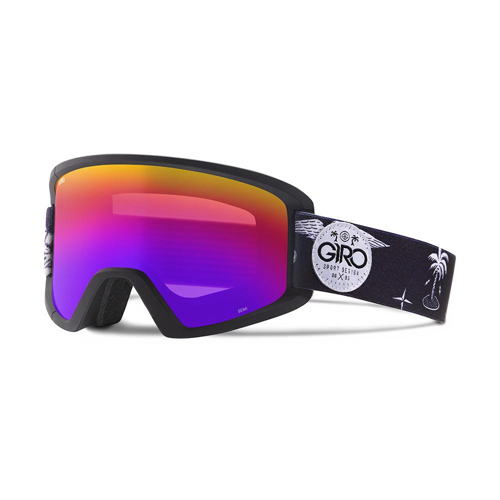 Горнолыжная маска Giro Semi чёрная Fresh Hesh, Rose Spectrum 16% + yellow 84% (GT)