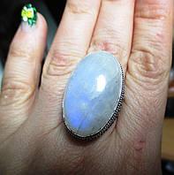 """Крупное кольцо """"Лунный свет"""" с натуральным лунным камнем, размер 18 от студии LadyStyle.Biz"""
