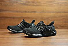 Мужские кроссовки Adidas Ultra Boost черные топ реплика