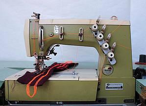 Швейная машина автомат Remoldi для пришива резинок лент силикона кружева кантов беек и окантовок на 4 позиции