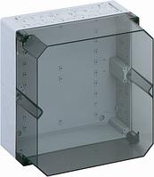 Корпус пластиковий «AKL 2-th» 300x300x210 мм сірий, з прозорою кришкою, ударостійкий полістирол