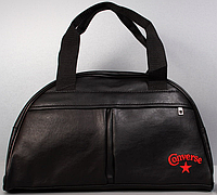 Спортивная- дорожная сумка с логотипом. Унисекс. (PU кожа) Converse