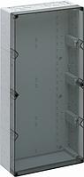 Корпус пластиковий «AKL 4-t» 300x600x132 мм сірий, з прозорою кришкою, ударостійкий полістирол