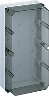 Корпус пластиковий «AKL 4-th» 300x600x210 мм сірий, з прозорою кришкою, ударостійкий полістирол