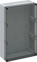 Корпус пластиковий «AKi 3-t» 300x450x132 мм сірий, з прозорою кришкою, полікарбонат