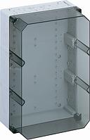 Корпус пластиковий «AKi 4-t» 300x600x132 мм сірий, з прозорою кришкою, полікарбонат
