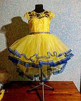 Нарядное пышное платье со шлейфом 1-7 лет