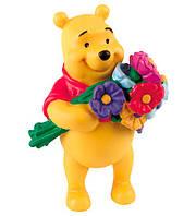 Фигурка Винни Пух с цветами, Disney Winnie the Pooh, Bullyland