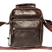 Коричневая мужская кожаная сумка (8017-к)