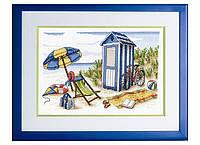 """Набор для вышивания """"Пляжная кабина (Beach Cabin)"""" Royal Paris"""