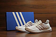Кроссовки мужские Adidas Ultra Boost белые топ реплика