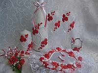Свадебный набор коралловый