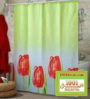 """Шторка для ванной комнаты """"Lale"""" или Тюльпаны, Miranda. Производство Турция"""