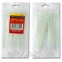 Хомут пластиковый белый (стяжка нейлоновая), 2.5x150 мм INTERTOOL TC-2515