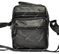 Мужская модная черная сумка кожаная (8017-і)