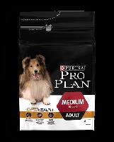 Purina Pro Plan Dog Medium Adult  Optibalce3 кг - корм для собак средних пород c курицей