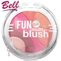 Bell - Румяна компактные 5-цветные Color Fun Multi Blush Тон 01