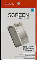 Lenovo A376 глянцевая защитная пленка на телефон