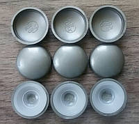 Пластиковая заглушка 10/12, Silver Grey (M) перламутр