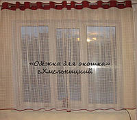 Тюль на люверсах  в клеточку, фото 1