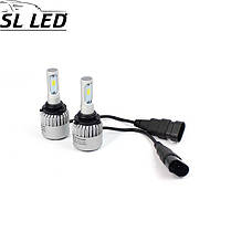 Установочный набор LED ламп в основные фонари SLP S2-LED Цоколь HB4, 9006, 35W, 5000 Люмен/Комплект, фото 2