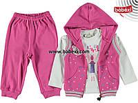 Спортивный костюм 3-ка для девочки 1,2,3 года к.211559