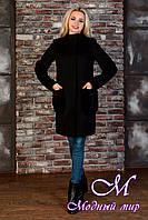 Строгое женское демисезонное пальто черного цвета (р.  XS, S, M) арт. Женева 9127