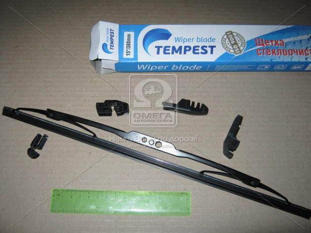 Щетка стеклоочистителя каркасная 380мм. (с адаптерами)  Tempest , фото 2