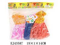 Одежда для кукол M-8080, Платья, 3 шт, в кул. 19x1x14 см